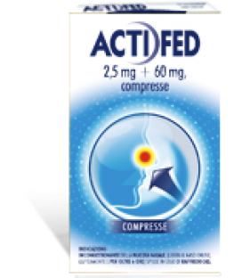 ACTIFED 2,5MG + 60MG 12 COMPRESSE