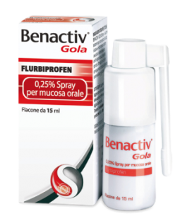 BENACTIV GOLA 0,25% SPRAY FLACONE DA 15ML