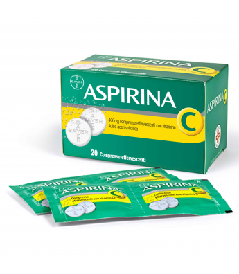 ASPIRINA C 20 COMPRESSE EFFERVESCENTI 400+240MG Bayer